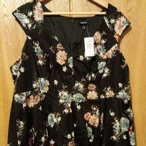 torrid Size 24W Black Floral Vintage Party Dress